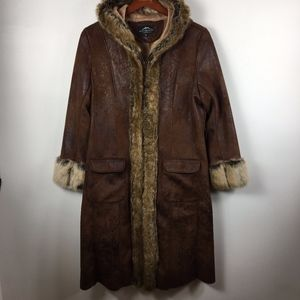 Montana Co. long faux suede fur coat L GORGEOUS